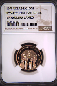Click now to see the BUY IT NOW Price! UKRAINE 1998 KYIV PECHERSK ASSUMPTION CATHEDRAL 1/2 OZ 100 H  NGC PF70 CERTIFICA