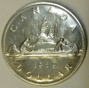 1969 CANADA PROOF LIKE NICKEL DOLLAR