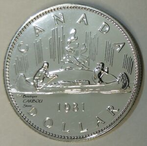 1981 CANADA PROOF LIKE NICKEL DOLLAR