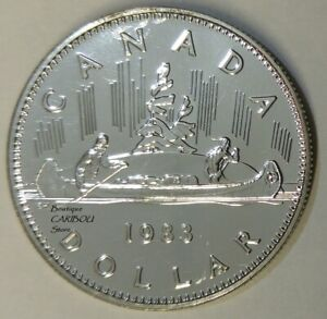1983 CANADA PROOF LIKE NICKEL DOLLAR