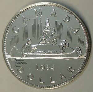 1984 CANADA PROOF LIKE NICKEL DOLLAR