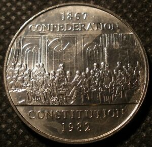 1982 CANADA 1867 1982 CONFEDERATION / CONSTITUTION MINT STATE DOLLAR FROM ROLL
