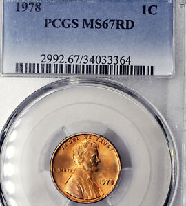 1978 P MS67 RD RED LINCOLN MEMORIAL CENT 1C PCGS GRADED