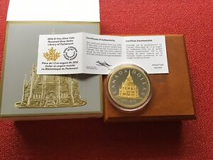 2016 $1 FINE SILVER COIN   RENEWED SILVER DOLLAR   LIBRARY OF PARLIAMENT