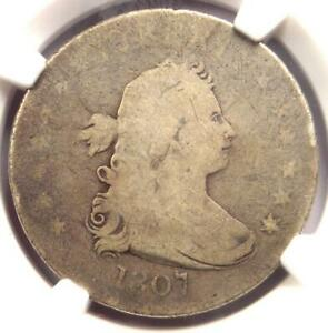 1807 DRAPED BUST QUARTER 25C COIN   CERTIFIED NGC AG DETAILS    COIN