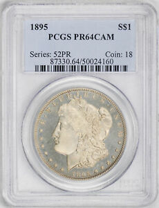 Click now to see the BUY IT NOW Price! 1895 MORGAN S$1 PCGS PR 64 CAM