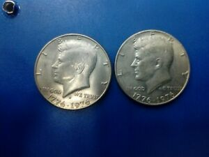 USA COIN LOT OF HALF DOLLAR 200 YEARS OF FREEDOM 1976 2 PCS    T1909