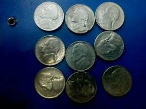 USA COIN LOT OF 5 CENTS 9PCS    T1653