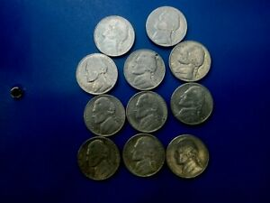 USA COIN LOT OF 5 CENTS 9PCS    T1654
