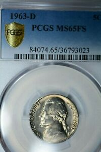 Click now to see the BUY IT NOW Price! 1963 D 5C PCGS MS65 FS POP 4/1  SUPER TOUGH FS