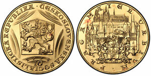 Click now to see the BUY IT NOW Price! CZECH. 1978 AV 10 DUKATEN. PCGS MS67 600TH ANNIVERSARY DEATH OF CHARLES IV.