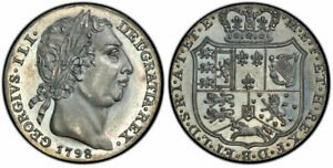 Click now to see the BUY IT NOW Price! BRITAIN GEORGE III 1798 AR PATTERN SHILLING. PCGS PR65 BNJ 53  1983 ; ESC 1243.