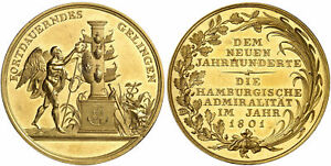 Click now to see the BUY IT NOW Price! GERMAN ST. HAMBURG. 1801 AV MEDALLIC 10 DUCATS BANKPORTUGALOSER NGC MS62