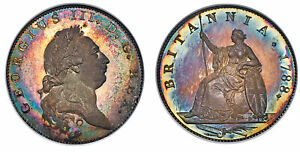 Click now to see the BUY IT NOW Price! BRITAIN GEORGE III.  KING 1760 1820 . 1788 AR PATTERN HALFPENNY. NGC PR67  CAM