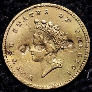 1854 TYPE 2 $1 ONE DOLLAR GOLD COIN             R7APM