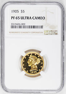 Click now to see the BUY IT NOW Price! 1905 LIBERTY $5 NGC PR 65 DCAM