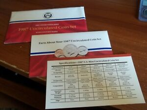 1987 MINT SET ENVELOPE ONLY  NO COINS NO COINS