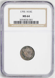 Click now to see the BUY IT NOW Price! 1795 FLOWING HAIR H10C NGC MS 64