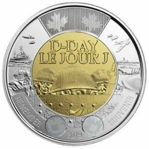 2019 CANADA  D DAY $2 DOLLAR COIN   NON COLORED VERSION; BU FROM ROLL;