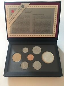 1995 ROYAL CANADIAN MINT PROOF SET SOME TONING WITH BOX