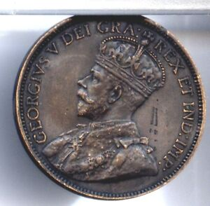 1918 CANADA LARGE CENT CH AU UNC FREE S/H U.S. OTHERS $1.00