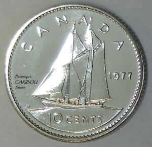1977 CANADA PROOF LIKE 10 CENTS