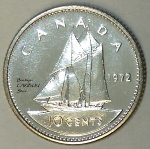 1972 CANADA PROOF LIKE 10 CENTS