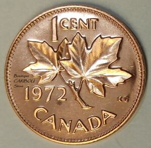 1972 CANADA PROOF LIKE 1 CENT