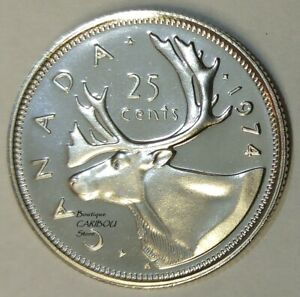 1974 CANADA PROOF LIKE 25 CENTS