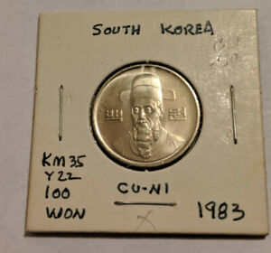 SOUTH KOREA   100 WON   1983 BU ADMIRAL YI SUN SIN  1545 1598  IN FLIPS 5/27