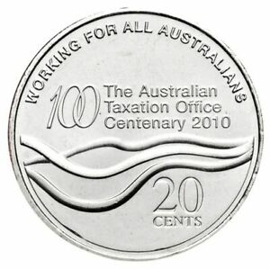 AUSTRALIAN TAXATION OFFICE CENTENARY 2010 20C UNC