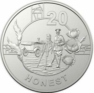 2018 20C ANZAC COIN  HONEST