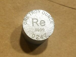 Click now to see the BUY IT NOW Price! 1 OUNCE RHENIUM .999 FINE 1 OZ INGOT RE ROUND BAR  WORLD METALS MINT UNC
