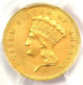1880 THREE DOLLAR INDIAN GOLD COIN $3   CERTIFIED PCGS AU DETAILS    DATE