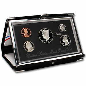 Click now to see the BUY IT NOW Price! 1995 PREMIER US MINT SILVER PROOF SET  OGP    90  SILVER KENNEDY BLACK BOX & COA