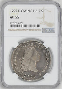 Click now to see the BUY IT NOW Price! 1795 FLOWING HAIR $1 NGC AU 55