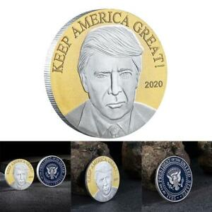DOUBLE COLORS 2020 TRUMP AMERICAN EAGLE COMMEMORATIVE COIN D1L