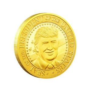 2020 PRESIDENT DONALD TRUMP GOLD PLATED EAGLE COMMEMORATIVE COIN D1L
