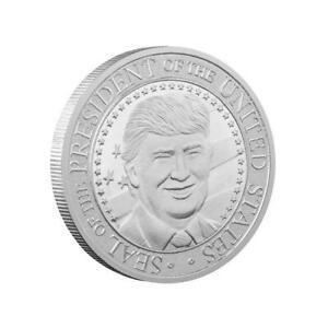 2020 PRESIDENT DONALD TRUMP SILVER PLATED EAGLE COMMEMORATIVE COIN D1L