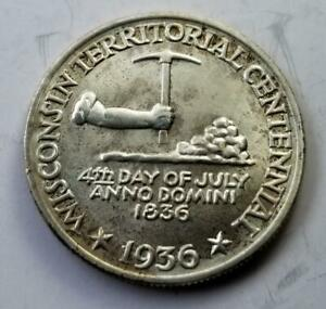 1936 WISCONSIN TERRITORIAL CENTENNIAL COMMEMORATIVE HALF DOLLAR