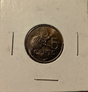 TRINDAD AND TOBAGO 5 CENTS 1976 KM 30 GREATER BIRD OF PARADISE 5/28