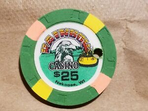Click now to see the BUY IT NOW Price! RAINBOW CASINO NEKOOSA WISCONSIN $25 HOLE CANCELLED WI POKER CHIP