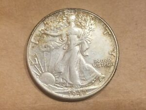 Click now to see the BUY IT NOW Price! 1942 P WALKING LIBERTY HALF DOLLAR SILVER COIN 50 CENT WALKER 1/2 WWII AU AUNC