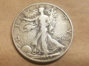 Click now to see the BUY IT NOW Price! 1938 P WALKING LIBERTY HALF DOLLAR SILVER COIN 50 CENT WALKER 1/2  NICE