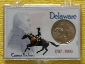 1999  P. DELAWARE STATE QUARTER. BU.  FREE GIFT. PROACTIVE DISPLAY CASE INCLUDED