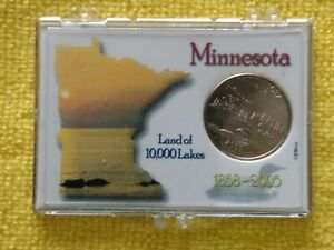 2005  P. MINNESOTA STATE QUARTER FROM M. ROLL. WITH A PROACTIVE CASE   FREE GIFT
