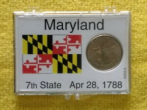 2000  P. MARYLAND STATE QUARTER. BU.   FREE GIFT. WITH A PROACTIVE DISPLAY CASE