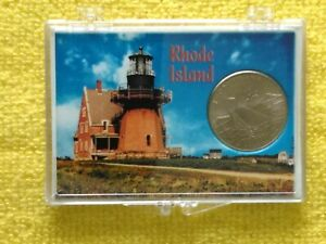 2001  P RHODE ISLAND STATE QUARTER FROM M. ROLL. W/ PROACTIVE CASE   FREE GIFT