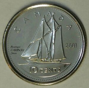 2001 P CANADA PROOF LIKE 10 CENTS