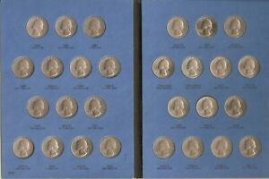 WASHINGTON QUARTER COLLECTION 1965 1987 COMPLETE IN WITMAN COIN FOLDER